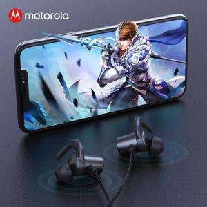 Image 5 - Motorola cou suspendu Bluetooth 5.0 Flexible écouteur magnétique sport écouteurs sans fil casque puissant basse avec 8H Playtime