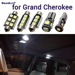 Image 1 - Canbus białe oświetlenie wnętrza + lampka tablicy rejestracyjnej żarówki do Jeep Grand Cherokee 1998 2017 WJ WK MK1 MK2 LED mapa światło kopuły