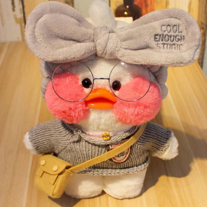 30CM różowy LaLafanfan Kawaii Cafe Mimi żółta kaczka pluszowe zabawki słodkie wypchana lalka miękkie zwierząt lalki dla dzieci zabawki urodziny prezent dla dziewczyny