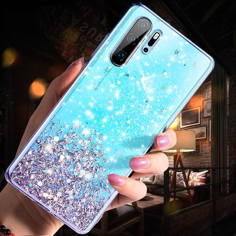 Funda brillante para Huawei P20 Lite P30 silicona cristal lentejuelas funda suave para Huawei P30 Lite P20 Pro funda transparente para teléfono