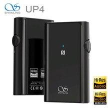 Shanling up4 hi-res portátil de alta fidelidade áudio bluetooth 5.0 amplificador duplo dac/amp saída equilibrada amplificador de fone de ouvido