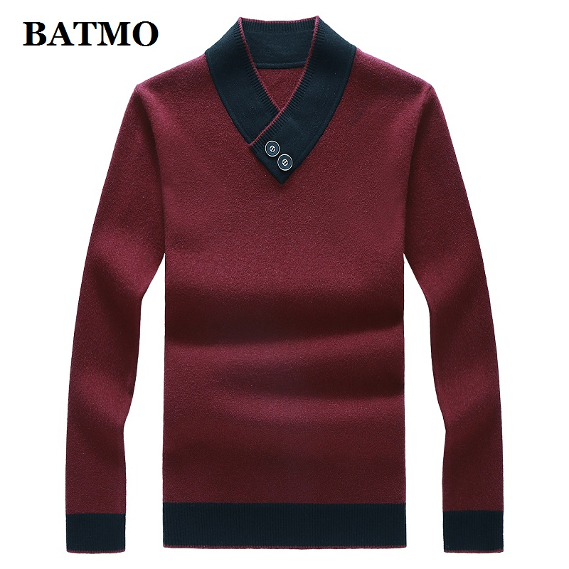 BATMO 2019 New Arrival Autumn High Quality Sweater Men,men's Thicekd Pullovers ,plus-size M-8XL 9991