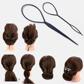 2pcs Fashion Tail Hair Braid Tools Ponytail Maker Styling Tool Korean Style Accessories