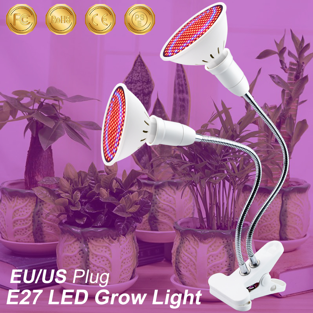 LED Plant Grow Light Indoor Lights With 360 Degrees Flexible Lamp Holder Clip LED Plant Growth Light For Indoor Or Desktop Plant