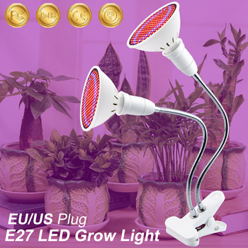 LED Plant Grow Light Indoor Lights with 360 Degrees Flexible Lamp Holder Clip Growth for or Desktop