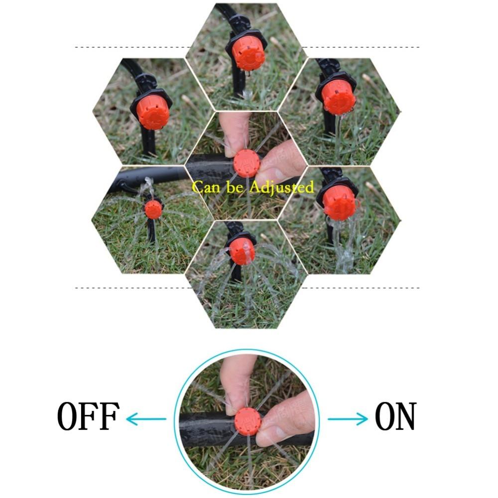 H1aa15e0b28e7495fb5f528cb36783b95m 100pcs/set Sprinkler Garden Irrigation Micro Flow Dripper Drip Head Irrigation Sprinklers Adjustable Water Dripper Head