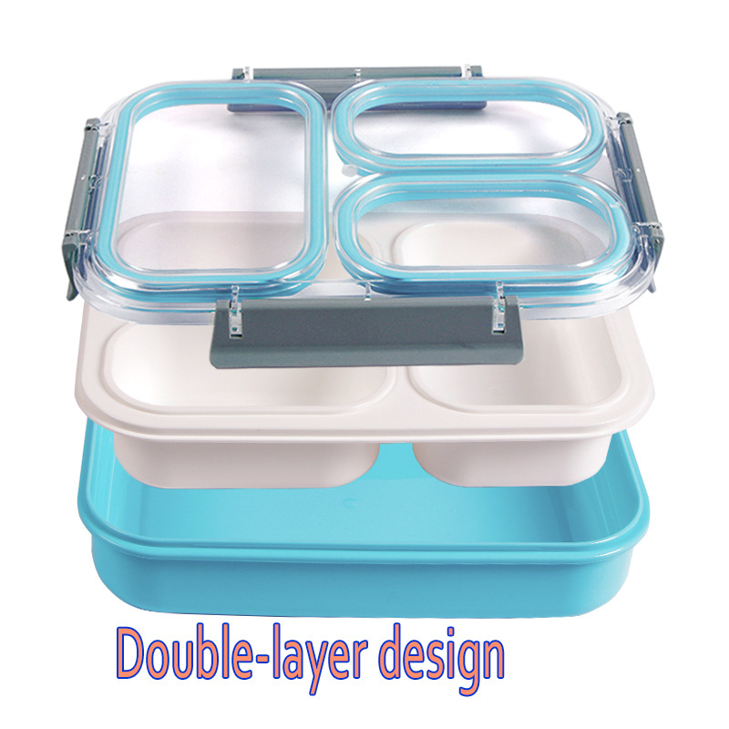 Image 5 - Leakproof Lunch Box Separate Compartments Children School Bento Box Food Container Microwave Dinnerware Lunch Box for Kids