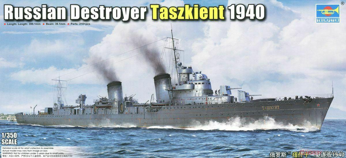 Trumpeter 1/350 05356 Russian Destroyer Taszkient 1940 model kit