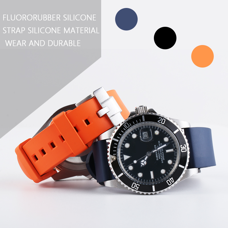 Quick Release Waterproof Sports Watchband Rubber Silicone Strap OMG Seasmaster Diving Watch GMT Explorer For Certina 20/22mm24mm