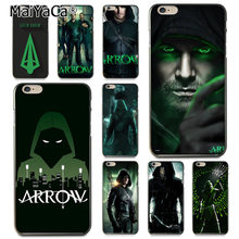 MaiYaCa Green Arrow Man Movie for iPhone 5S 6S 8 Plus X XR XS MAX 11 Por for Samsung Black Soft Shell Phone Case Rubber Silicone(China)