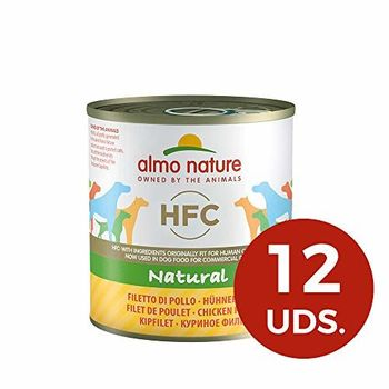 Almo Nature Dog HFC Natural Filete de Pollo - Paquete de 12 x 280 gr - Total: 3360 gr