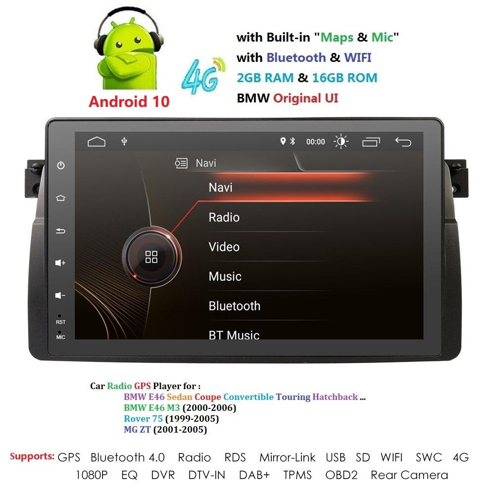 Android 9,0 4G Автомобильный gps плеер для BMW E46 M3 MG ZT ROVER 75 gps стерео аудио навигация мультимедийный экран головное устройство USB OBD2 DAB