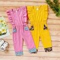 Повседневный хлопковый комбинезон для маленьких девочек; Комбинезон; Одежда; Пляжный костюм