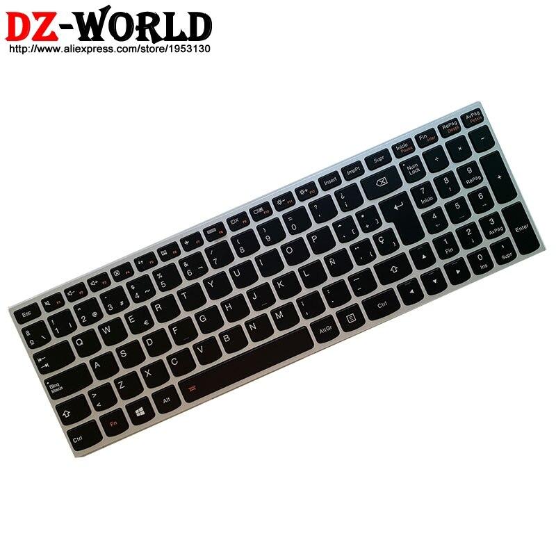 Image 2 - New Original Spain Laptop Backlit  keyboard for Lenovo Z51 70 Ideapad 500 15ISK series 5N20H03520 5N20H03456Replacement Keyboards   -
