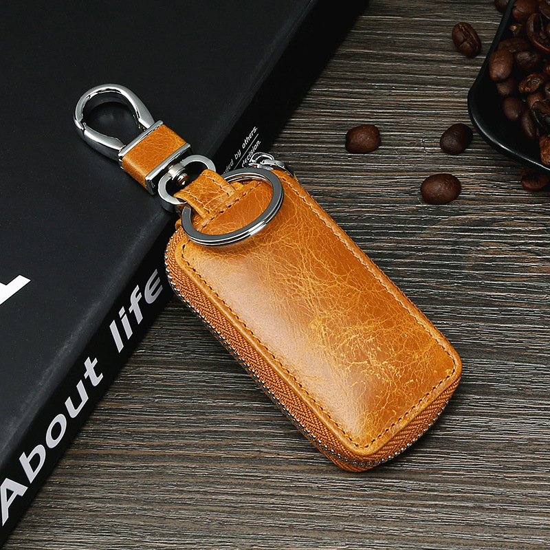 Cowhide Business Key Holder For Both Men And Women