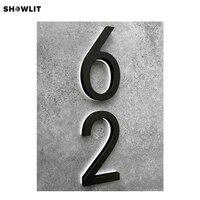 Preto pintado led iluminado números de casa moderna|Placas de porta| |  -