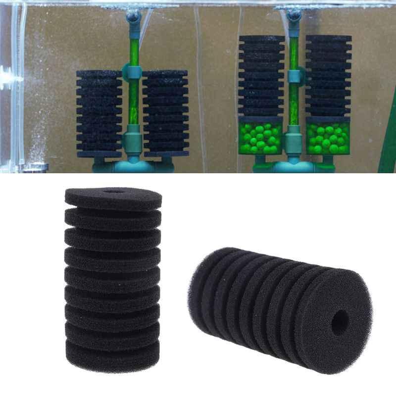فلتر حوض سمك الإسفنج ل QS تصفية خزان الأسماك مضخة هواء البيوكيميائية استبدال