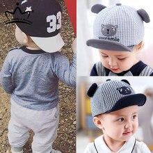 Cute Baby chłopięca czapka haft numer dziecko czapka z daszkiem wiosna lato dzieci bawełniany kapelusz przeciwsłoneczny maluch dziewczyna odkryte czapki z daszkiem