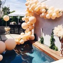 Macaron Luftballons bogen Pfirsich Orange Ballon 5/10/18/24/36 zoll Jumbo Macaron Luftballons Baby dusche Hochzeit Hintergrund Dekoration