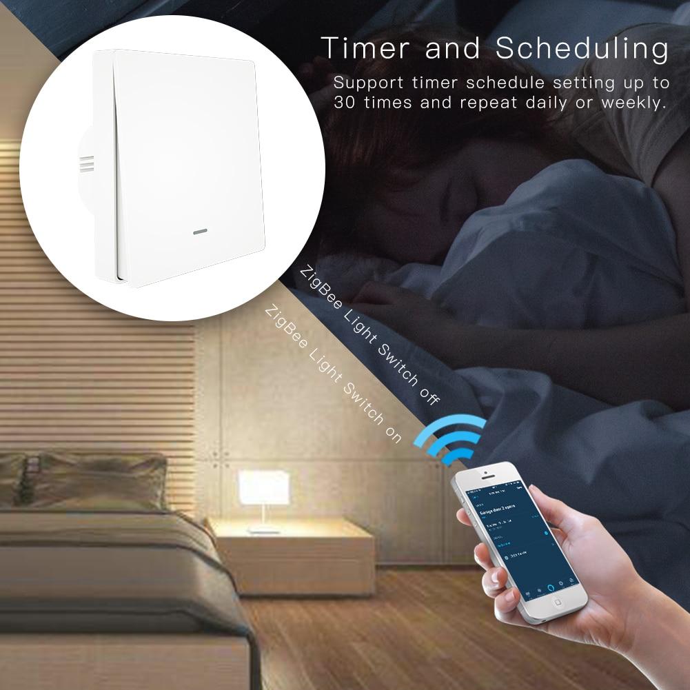 Image 5 - Tuya ZigBee 3,0 кнопочный выключатель света Tuya ZigBee концентратор требуется приложение Smart Life дистанционное управление работа с Alexa Google HomeВыключатели    АлиЭкспресс