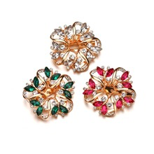 Gariton  3 Color crystals Wedding Brooch for Women Multicolor Cubic Zircon Inlay Rose Gold-Color Fashion Brooch Jewelry Gift