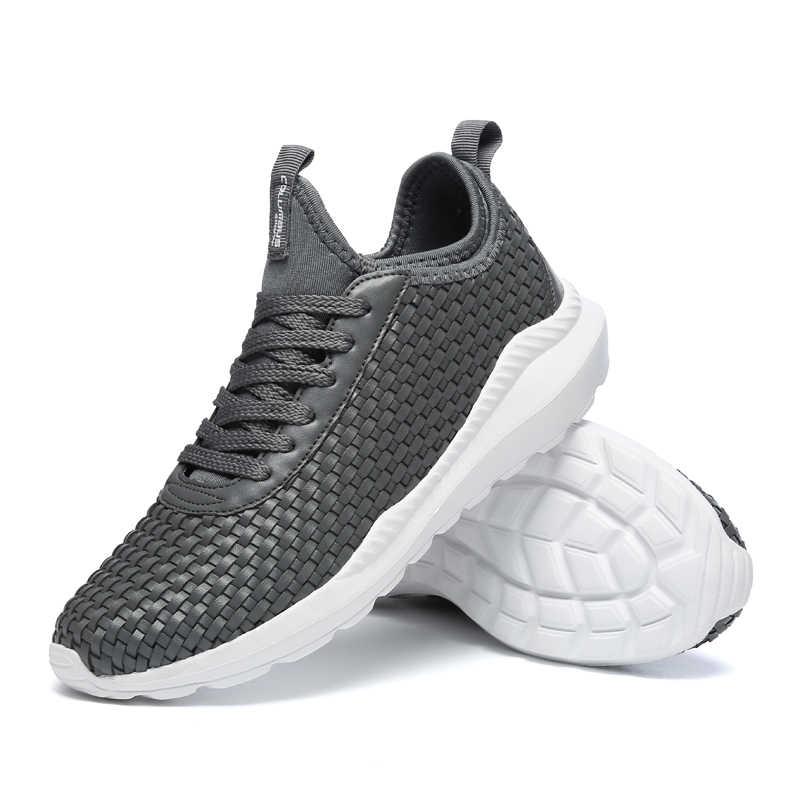 2018 neue Ankünfte Herrenmode Trend Casual Schuhe Atmungsaktive Turnschuhe Schuhe Männlichen Erwachsenen Sommer Sport Trainer Plus Größe 39 -46