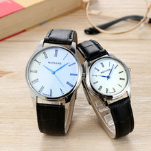 Rich Tree Couple Watch casual fashion men and women 40mm30mm white dial belt watch trend simple noble brand couple