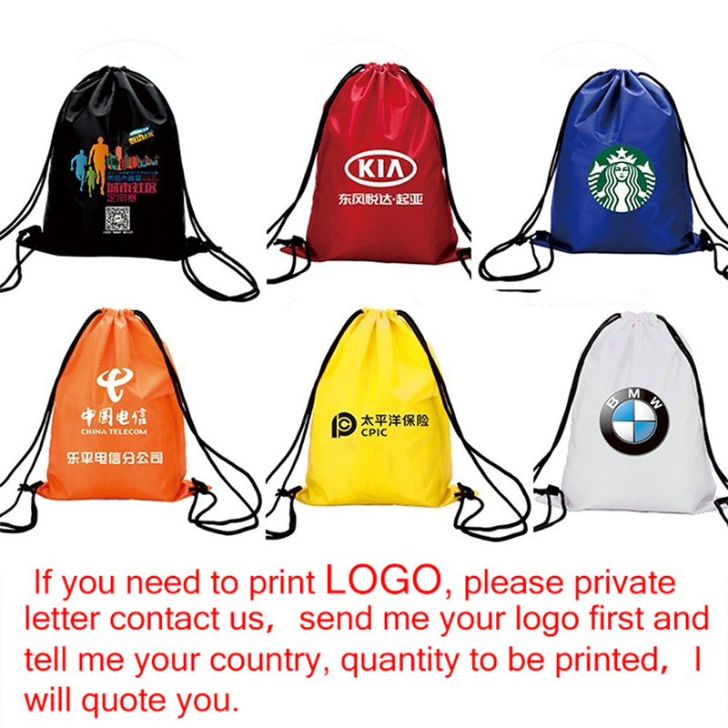 Zackpack 5pcs Drawstring Bags Custom Logo Waterproof Pouch Polyester Backpack Pull Rope Canvas Gym Sack Mochila Knapsack in Drawstring Bags from Luggage Bags