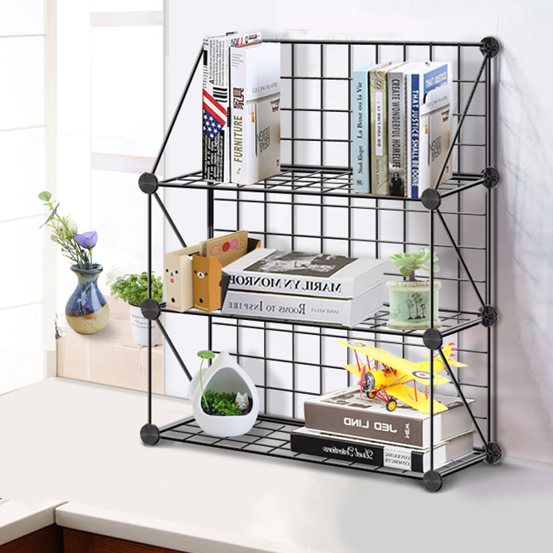 Creative Computer Desktop Bookshelf, Fashion Desktop Bookcase, Children's Simple Shelf, Small Office Storage Rack.