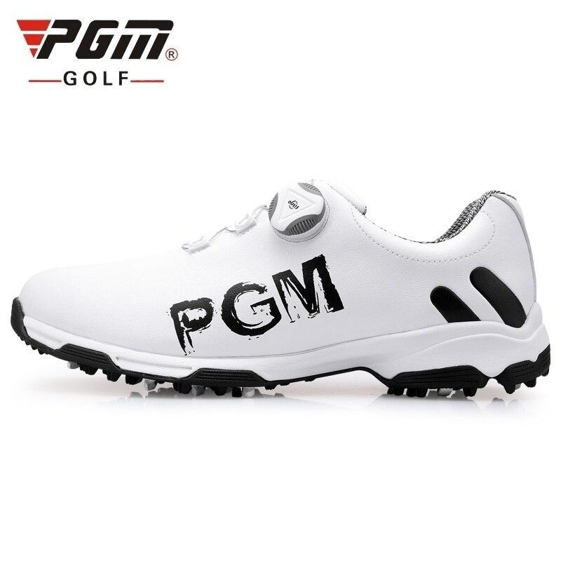 Sapatos de Golfe à Prova Tênis de Golfe Masculino Profissional Dwaterproof Água Impressão Treinamento Anti-skid Respirável Sapatos Tamanho Eu39-45 D0470 Pgm