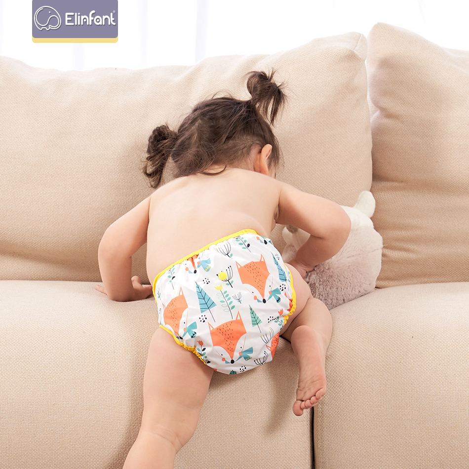 Elinfant Baby Diaper Cover Reusable Washable Cloth Diaper Waterproof Leakproof Quality Adjustable Cover Fit   8-35pounds