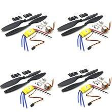 Moteur sans balais XXD A2212 A2208, 4 jeux, 930kv, 1000kv, 1400KV, 2200KV, 2600KV, 1100KV, 30a, ESC 1045, hélices combinées pour Multirotors RC