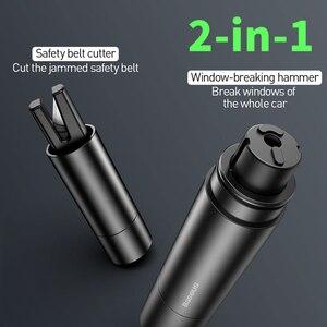Image 3 - Baseus мини автомобиля оконного стекла выключатель резак ремня безопасности Безопасность молоток для спасения жизни, аварийный молоток с комплектов режущих ножей, аксессуары для интерьера