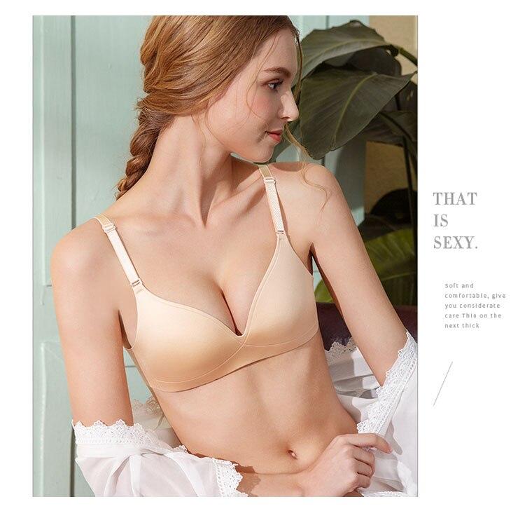 CINOON Sexy Gather Bras For Women Push Up Lingerie Seamless Bra Bralette Wireless Brassiere Female Underwear Intimates (28)