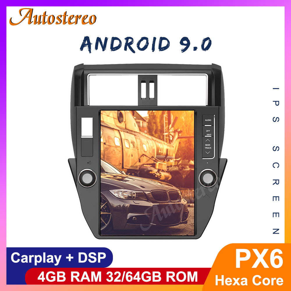Tesla Style PX6 Android 9.0 <font><b>Car</b></font> GPS Navigation <font><b>For</b></font> <font><b>TOYOTA</b></font> Land Cruiser <font><b>Prado</b></font> <font><b>150</b></font> <font><b>2010</b></font>-2013 <font><b>Car</b></font> Stereo Multimedia Player Headunit image