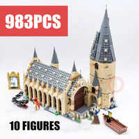 New Hogwarts Castle House Fit Legoings Potter Fantastic Beasts Figures Building Block Brick Toys Kid Birthday Gift Christmas