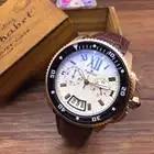 Роскошные брендовые новые мужские часы, кварцевые часы с хронографом и секундомером, часы из нержавеющей стали, Сапфировая Роза, золото, сер...