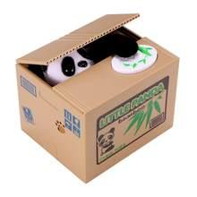 Panda gatos ladrão caixas de dinheiro brinquedo mealheiro presente crianças caixas de dinheiro automático roubou moeda mealheiro caixa de poupança de dinheiro moneybox