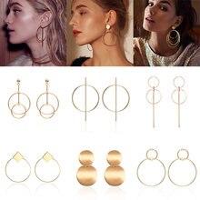 Модные маленькие металлические Висячие серьги для женщин ювелирные