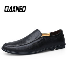 Buy CLAXNEO Man Leather Shoes Slipons Summer Autumn Male Moccasins Genuine Leather Loafers Men Boat Footwear Breathable Big Size directly from merchant!