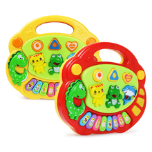 2 Types Kids Baby Musical Farm Piano Instrument Toy Animal Sound Soft Light 8 Notes Piano Keyboard Educational Toys for Children