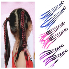 Headbands Hair-Accessories Girls Wigs Ponytail Colorful 1pcs Beauty Kids