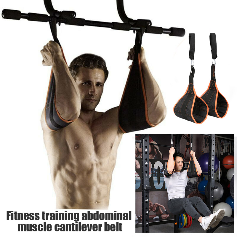 New ABS Training Supporters Training Abs Belt Horizontal Bar Pull-up Sling Abdominal Sling Durable XD88
