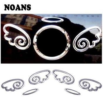 NOANS Car-styling Silver 3D Angel Wings Sticker Accessories For Nissan Qashqai J11 Alfa Romeo BMW E46 E39 E90 E60 E36 X5 E53 E70 image