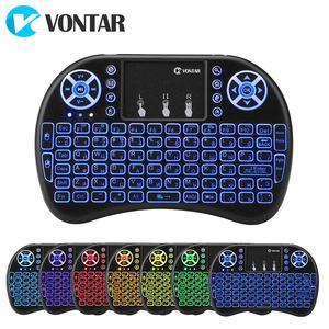 Vontar i8 teclado sem fio russo inglês hebraico versão i8 + 2.4ghz ar mouse touchpad portátil para android caixa de tv mini pc