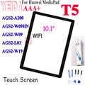 10.1 pollici Per trasporto libero di Huawei MediaPad T5 AGS2-W09HN Touch Screen Anteriore nero Obiettivo di Vetro del Pannello L09 AGS2-W09 AGS2-L03 AGS2-W19 Touch Screen