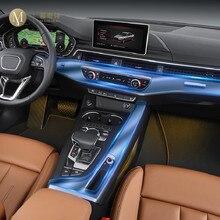 Para audi a4 a5 b9 fy 2016-2020 carro interior console central transparente tpu película protetora anti-scratch reparação filme acessórios