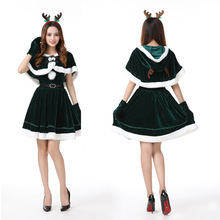 Costume Princess Outfit Dress Role-Play Party Girls Woman Make-Up Xmas Elk Festival Deer