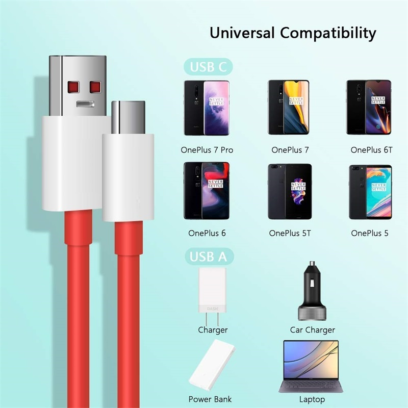 Hot Deal #1c22 For Oneplus 7 Plus 7T Dash Cable Charger