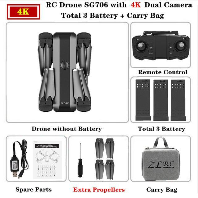 SG706 4K Carry Bag 3 batteries